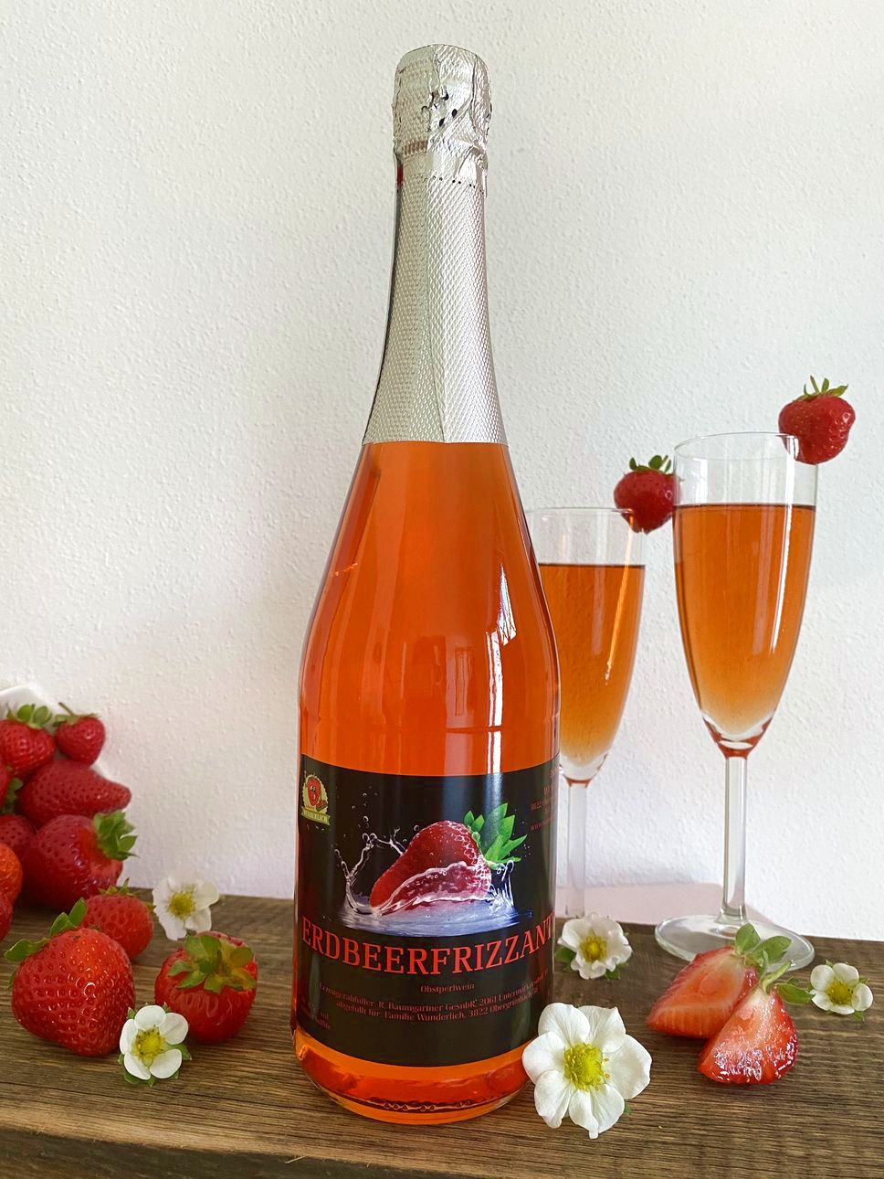 Erdbeer-Frizzante 0,75l   Erdbeerhof Wunderlich