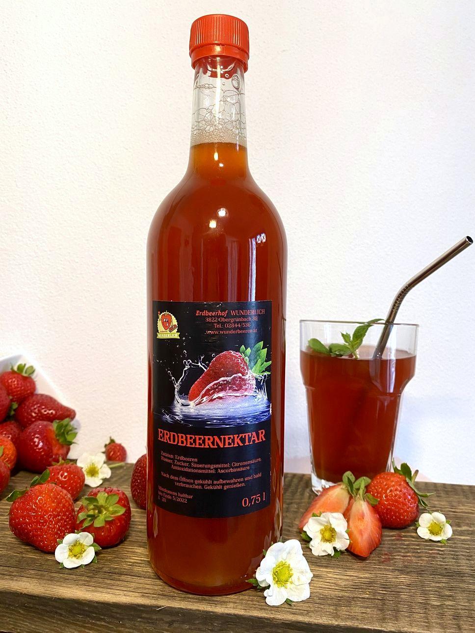Erdbeer-Nektar   Erdbeerhof Wunderlich