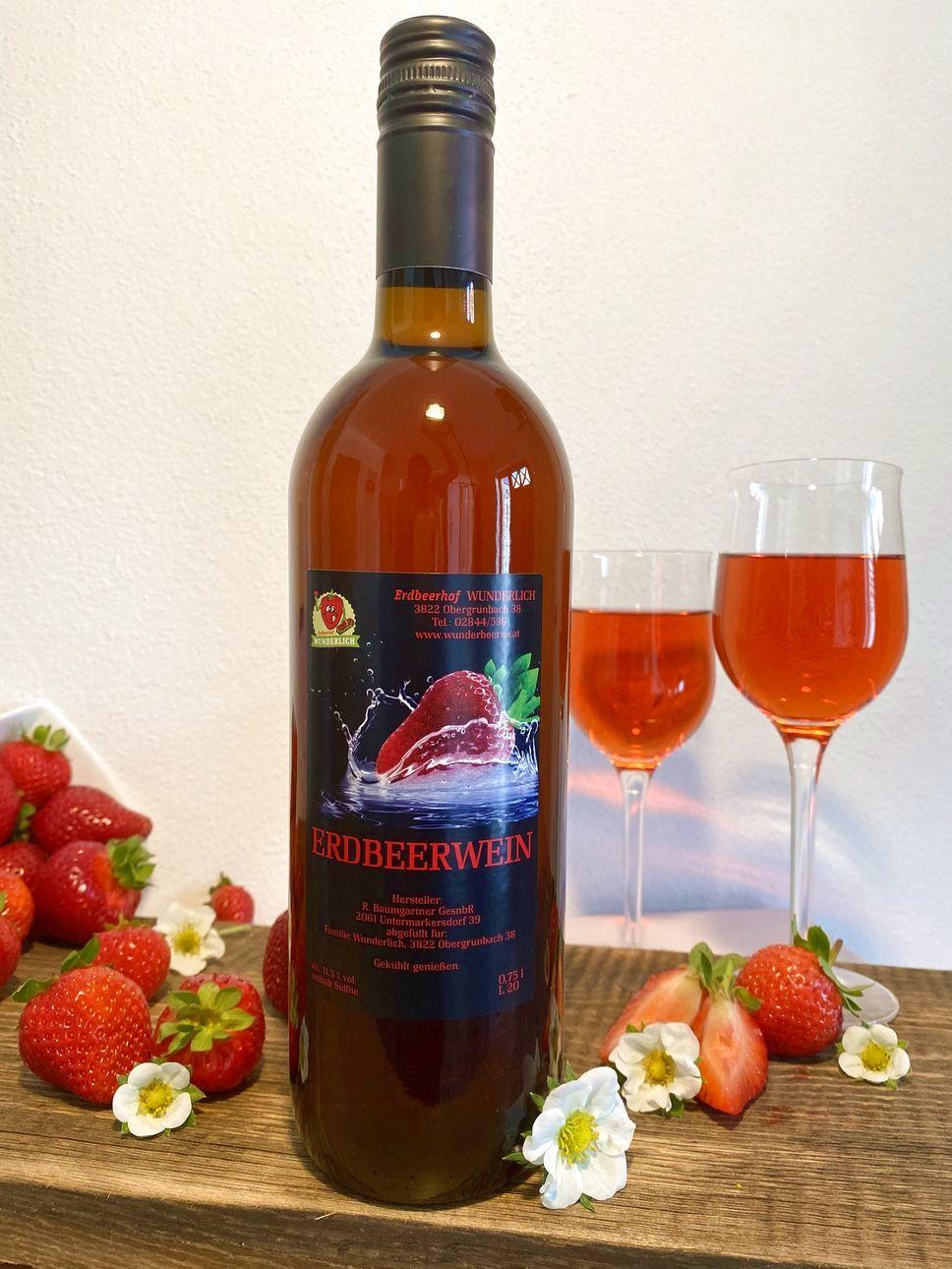 Erdbeer-Wein   Erdbeerhof Wunderlich